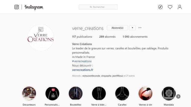 Instagram Verre Créations